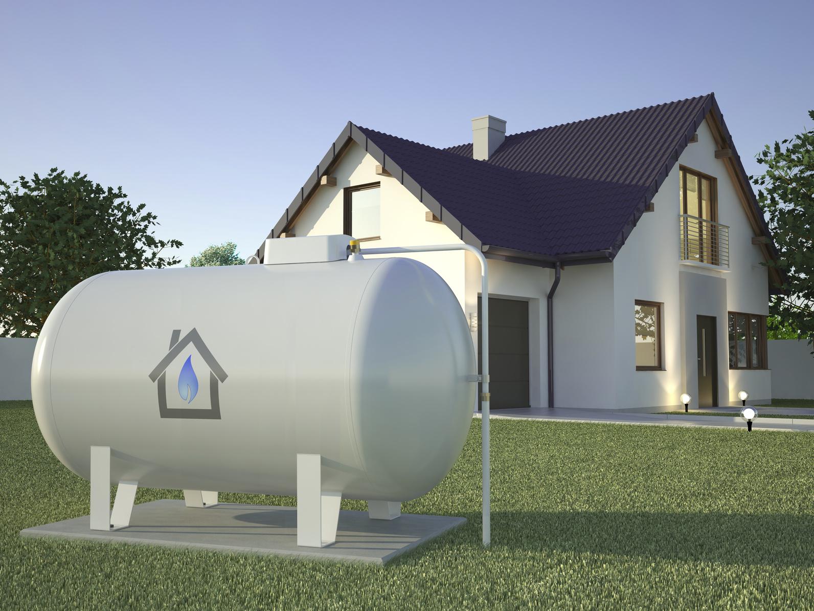 Gas Tank near house